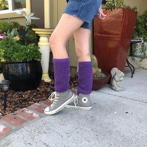 Converse All Star Sneakers w/ Leg Warmers Sz 8 US